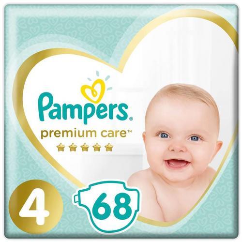 Scutece Pampers Premium Care - Nr 4 - 9 - 14 kg - 68 buc - Ingrijirea bebelusului - Scutece bebelusi