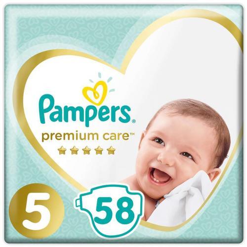 Scutece Pampers Premium Care - Nr 5 - 11 - 18 kg - 58 buc - Ingrijirea bebelusului - Scutece bebelusi
