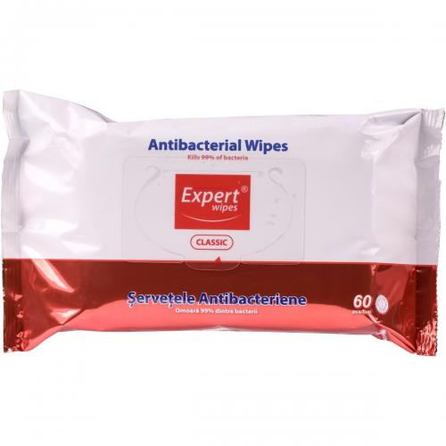 Servetele antibacteriene Expert Wipes Clasic - 60 buc - Home deco -