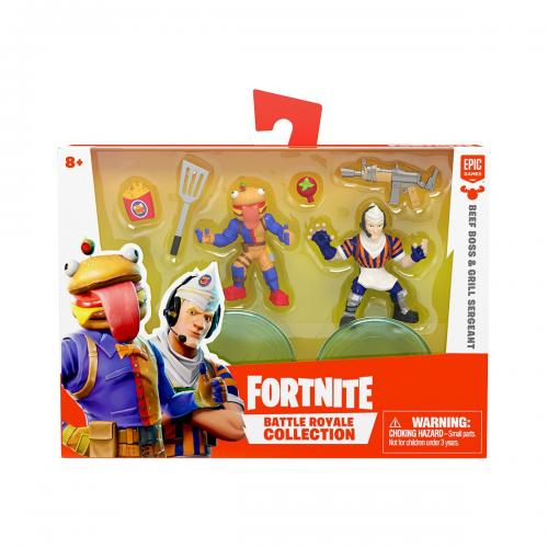 Set 2 figurine Fortnite - Beef Boss si Grill Sergeant S1 W3 (63543) - Figurine pentru copii -