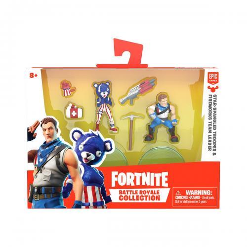 Set 2 figurine Fortnite - Star-Spangled si Fireworks Team Leader S1 W3 (63545) - Figurine pentru copii -