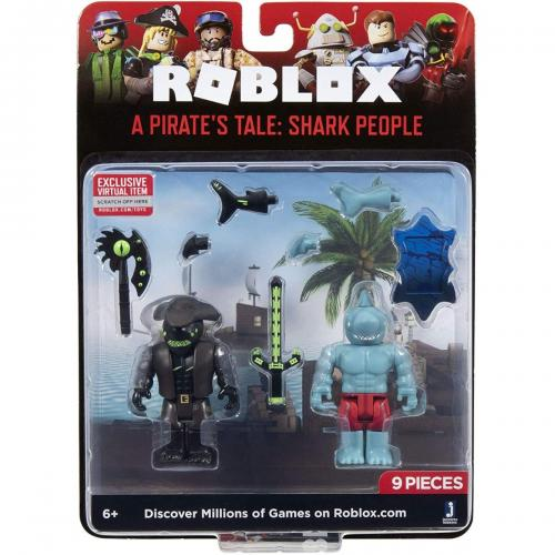 Set 2 figurine Roblox - A Pirates Take - Shark People - Figurine pentru copii -