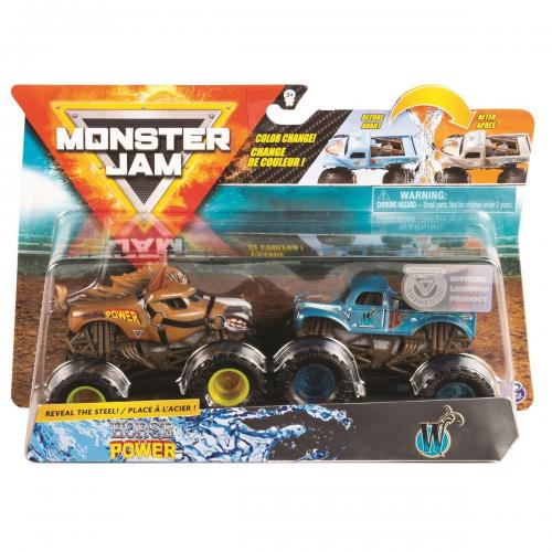 Set 2 masini Monster Jam - Scara 1:64 - Horse Power si W - Masinute copii -