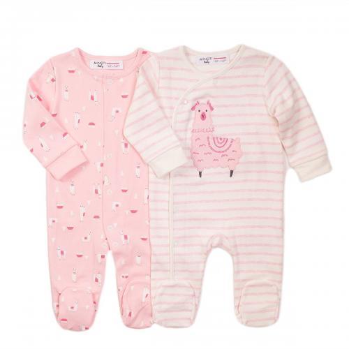 Set 2 salopete cu maneca lunga Minoti Llama - Imbracaminte copii - Salopete copil