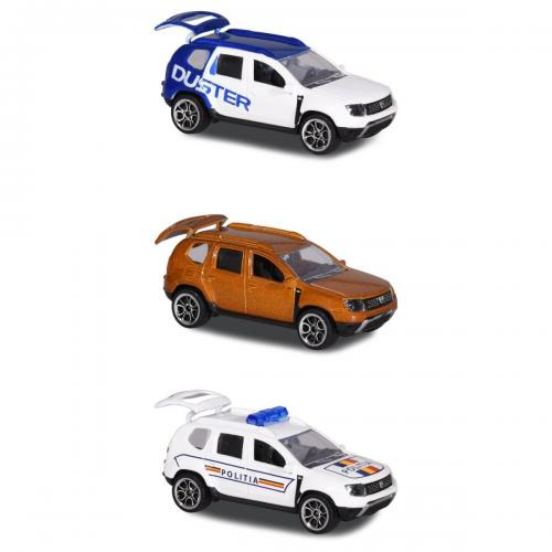 Set 3 masinute de metal Dacia Duster Majorette - 75 cm - Masinute copii -