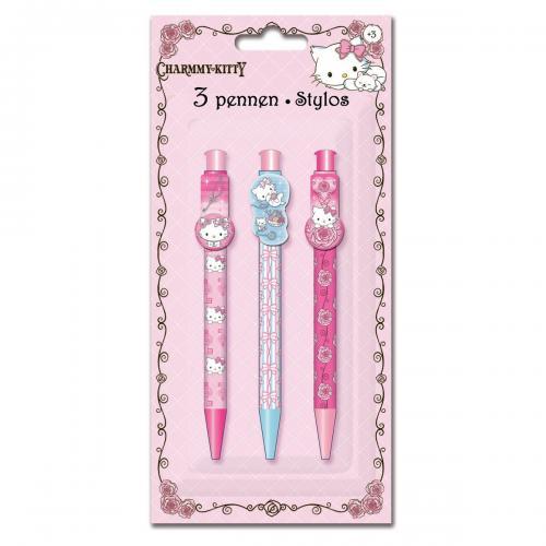Set 3 mini pixuri Hello Kitty - Rechizite scolare -