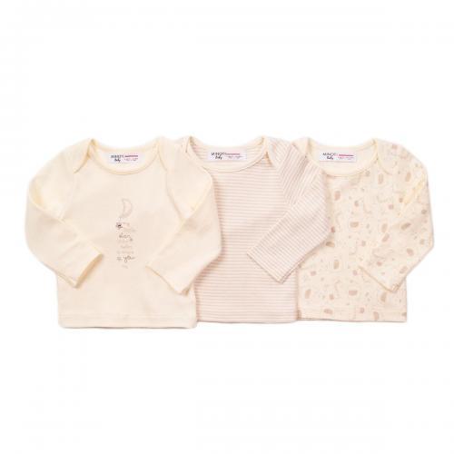 Set 3 tricouri cu maneca lunga Minoti Moon - Imbracaminte copii - Tricouri