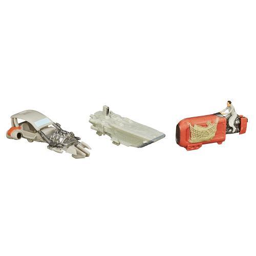Set 3 vehicule Star Wars Micro Machines - Speeder Chase - Figurine pentru copii -