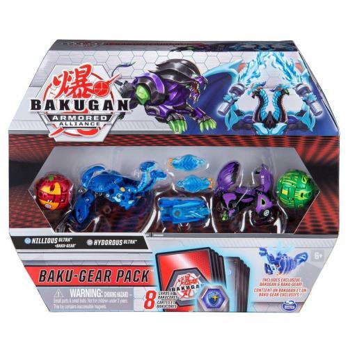 Set 4 Bakugan Armored Alliance - Nillious - Hydorous - 20122676 - Figurine pentru copii -