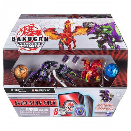 Set 4 Bakugan Armored Alliance - Trox - Pegatrix - 20122677 - Figurine pentru copii -