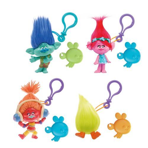 Set 4 brelocuri - figurina Trolls - 10 cm - Figurine pentru copii -