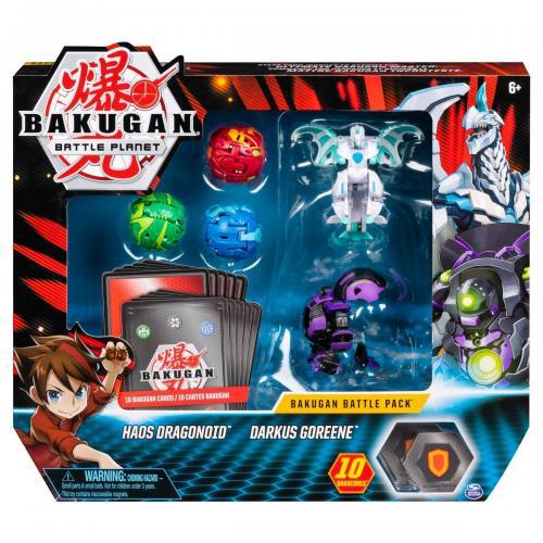 Set 5 Bakugan Battle Planet - Haos Dragonoid - Darkus Goreene - 20115627 - Figurine pentru copii -