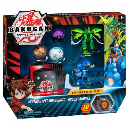 Set 5 Bakugan Battle Planet - Ventus Hyper Dragonoid - Aquos Pandoxx - 20115628 - Figurine pentru copii -