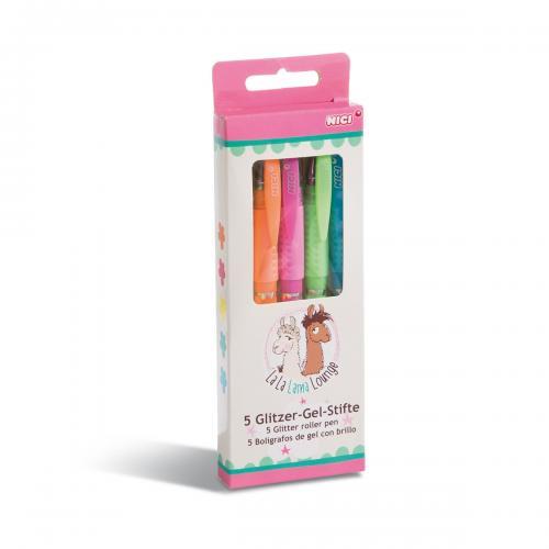 Set 5 pixuri cu gel Nici - Multicolor - Rechizite scolare -