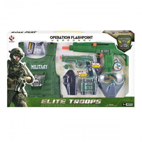 Set accesorii armata Military Thunders - 10 piese - Jucarii de imitatie -