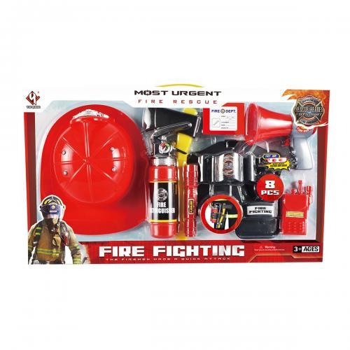 Set accesorii pompier Rescue Heroes - 8 piese - Jucarii de imitatie -