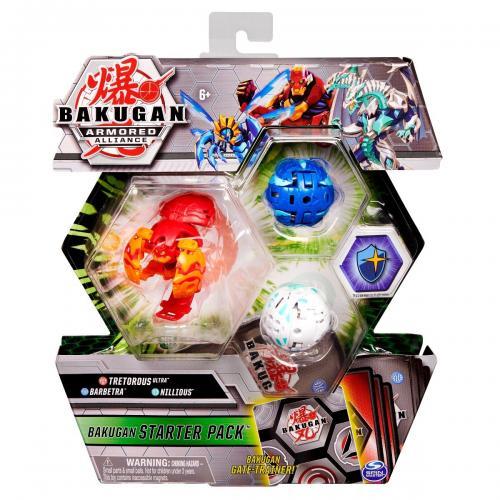 Set Bakugan Armored Alliance - Tetorous Ultra - Barbetra - Nillious 20124819 - Figurine pentru copii -