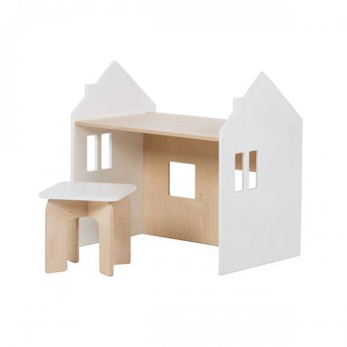 Set birou si scaunel Home Concept - Alb - Camera copilului - Mobila camera copii