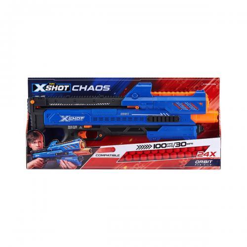 Set blaster X-Shot Chaos Orbit Dart Ball cu 24 de proiectile - Jocuri in aer liber -