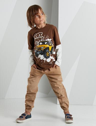 Set bluza cu maneca lunga si pantaloni sport Mushi Got Mud - Imbracaminte copii - Bluze corp