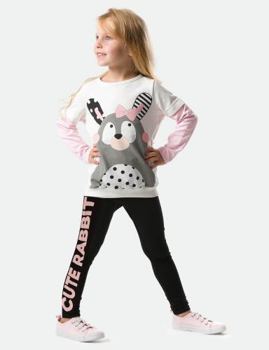 Set bluza si pantaloni sport Cute Rabbit Denokids - Imbracaminte copii - Bluze corp