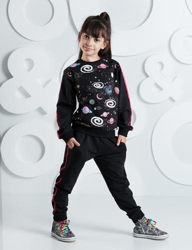 Set bluza si pantaloni sport Galaxy Mushi - Imbracaminte copii - Bluze corp