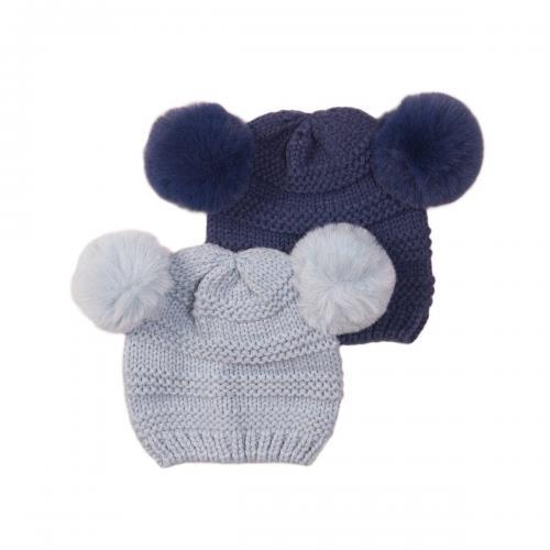 Set caciuli tricotate bleu/ bleumarin Minoti Nbb Hat - Imbracaminte copii - Caciula pentru copii