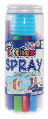 Set de 12 carioci cu spray - The Littlies - Rechizite scolare -