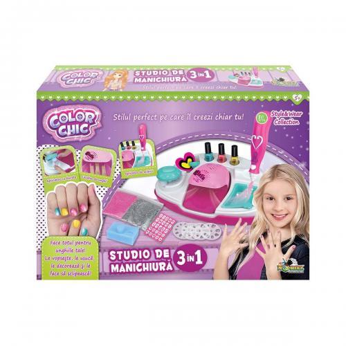 Set de creatie Studio de manichiura 3 in 1 - Color Chic - Jocuri creative -