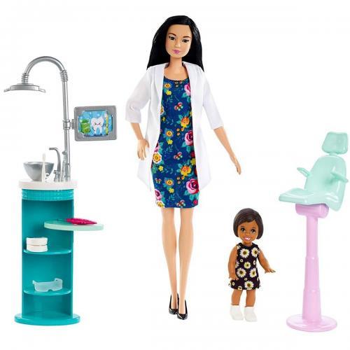 Set de joaca Barbie - Doctor dentist - FXP17 - Papusi fetite -