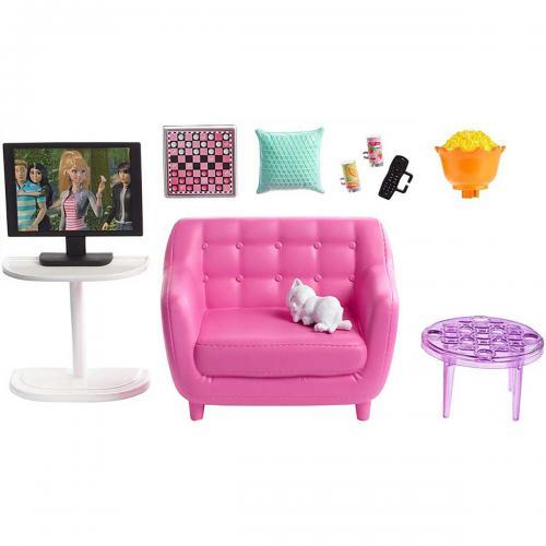 Set de joaca Barbie - Mobila sufragerie cu accesorii - FXG36 - Papusi fetite -