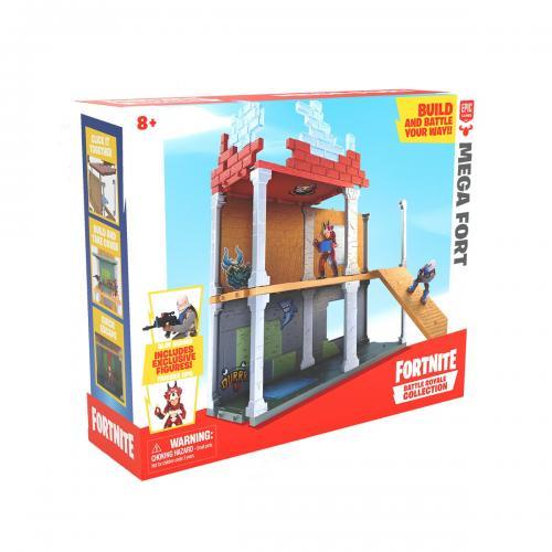 Set de joaca cu 2 figurine Fortnite Battle Royale - Mega Fort - Figurine pentru copii -