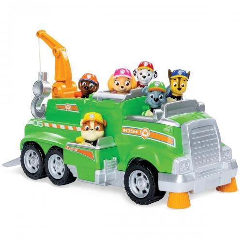 Set de joaca cu Masinuta pentru reciclare si 6 catelusi Paw Patrol - Masinute copii -