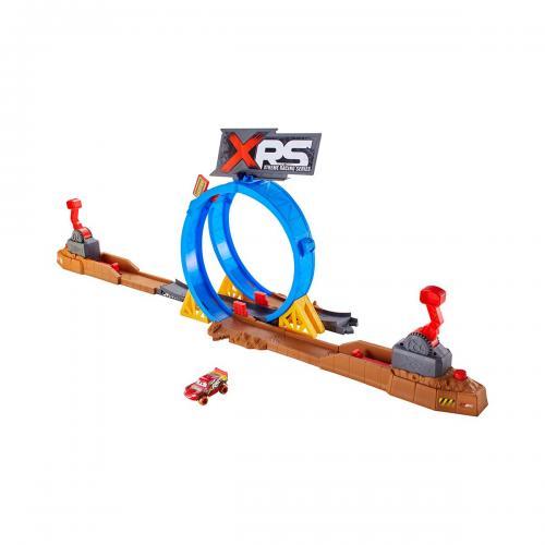 Set de joaca Disney Cars - Provocarea de pe pista XRS - Masinute copii -
