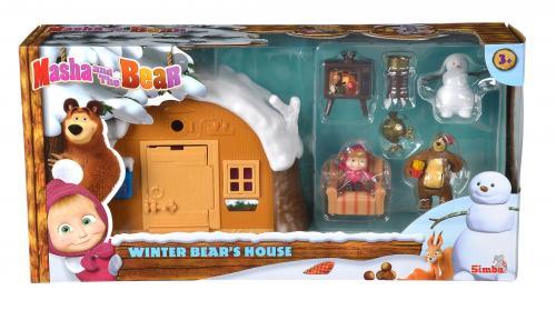 Set de joaca Masha and The Bear - Casa de iarna a ursului - Figurine pentru copii -