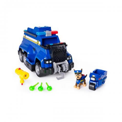 Set de joaca Paw Patrol - Vehicul de politie cu functiuni - Chase - Figurine pentru copii -