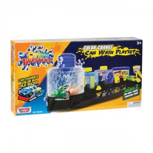 Set de joaca Spalatorie de masini Motormax Color Twisters - Masinute copii -