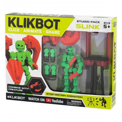 Set Figurina Robot articulat transformabil KlikBot Studio Pack - Green - Figurine pentru copii -