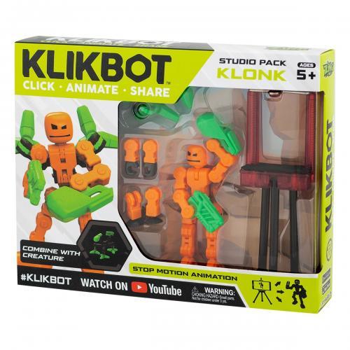 Set Figurina Robot articulat transformabil KlikBot Studio Pack - Orange - Figurine pentru copii -