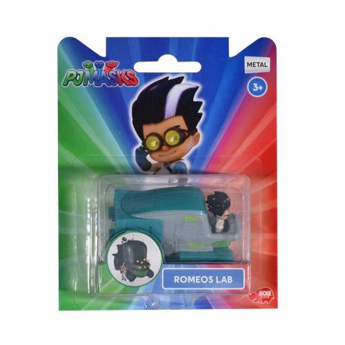 Set figurina si masinuta PJ Masks - Romeos Lab - Figurine pentru copii -