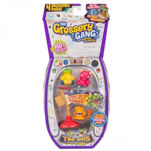 Set figurine Grossery Gang - Time Wars - S5 - Regular - Figurine pentru copii -