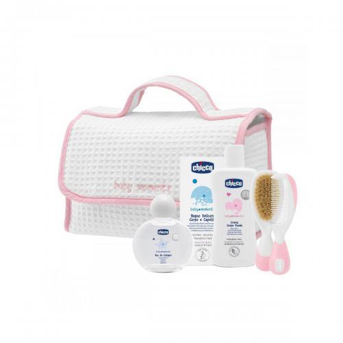Set igiena personala Baby Moments Chicco - 0 luni + - Roz - Ingrijire corporala - Produse pentru corp