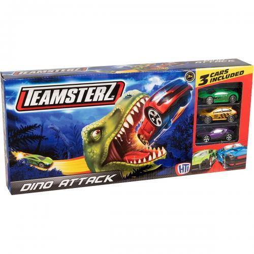 Set lansator de masinute Teamsterz - Dino Attack - Masinute copii -