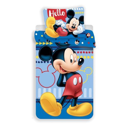 Set lenjerie de pat Mickey Mouse - 140 x 200 cm - Camera copilului -