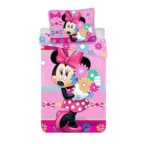 Set lenjerie de pat Minnie Mouse - 140 x 200 cm - Camera copilului -