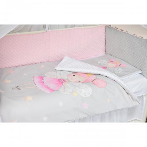Set lenjerie de pat Paturica Fermecata - 3 piese - Zana - Camera copilului -
