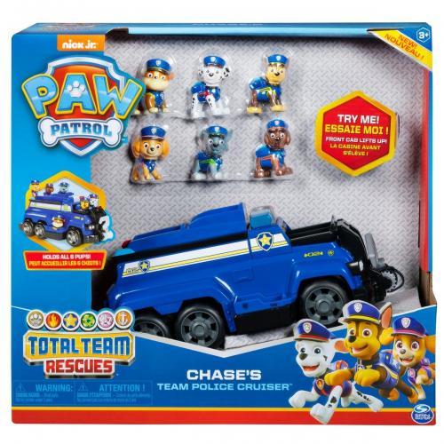 Set Masinuta cu figurine Paw Patrol - Chases Team Police Cruiser - Masinute copii -