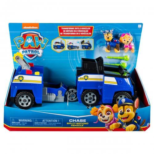 Set Masinuta cu figurine Paw Patrol Split Second Vehicle 20122545 - Masinute copii -