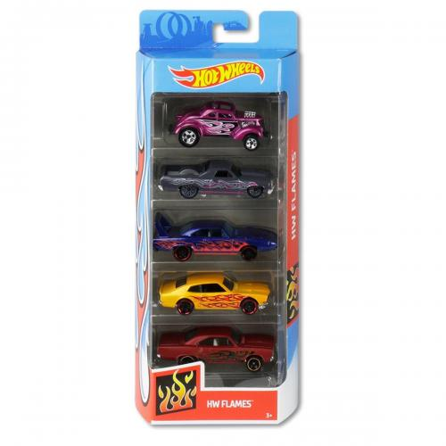 Set masinute Hot Wheels - Hw Flames GHP60 (5 modele) - Masinute copii -