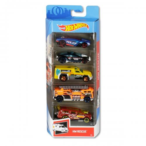 Set masinute Hot Wheels - Hw Rescue GHP61 (5 modele) - Masinute copii -